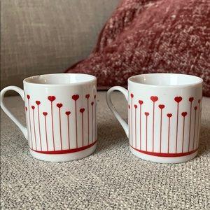 ESPRESSO CUP SET ❤️ Hearts/ tea cup + saucer